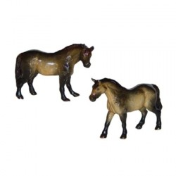 Poneys - Lot de 2 miniatures porcelaine