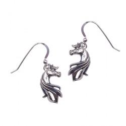 Boucles d'oreilles Tête de cheval design argent