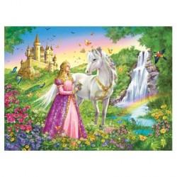 Puzzle Cheval et princesse - 200 pièces