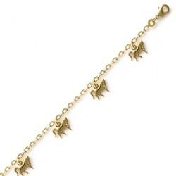 Bracelet pampilles chevaux plaqué or