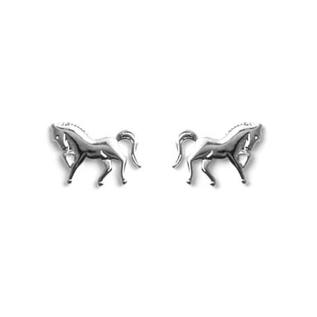 Boucles d'oreilles Cheval vaillant - argent