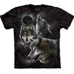 Tee shirt enfant Loup - Eclipse Wolves