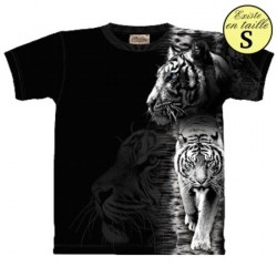 Tee shirt Tigre - White Tiger Stripe XL
