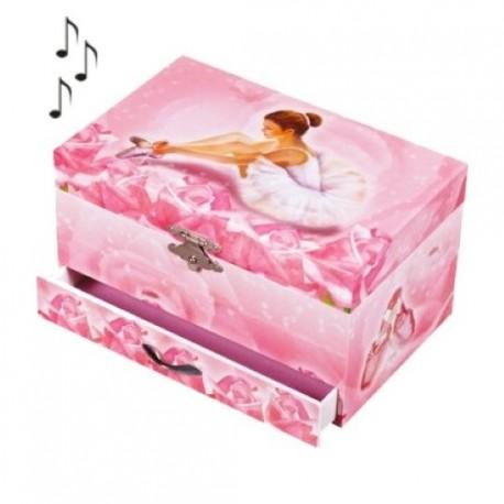 Boite à bijoux musicale Ballerine rose