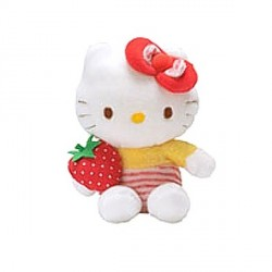 Peluche Hello Kitty au jardin - 14 cm