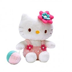 Peluche Hello Kitty et sa balle - 14 cm