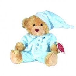 Peluche Ours pyjama bleu