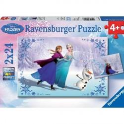 Puzzle La Reine des Neiges - 2 x 24 pièces