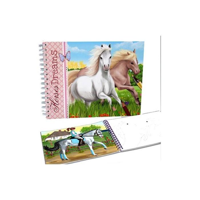 album de coloriage chevaux cavacado. Black Bedroom Furniture Sets. Home Design Ideas