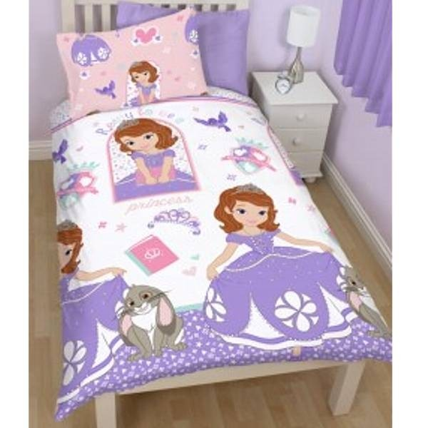 parure de lit enfant sofia la princesse cavacado. Black Bedroom Furniture Sets. Home Design Ideas