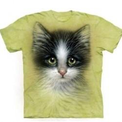 Tee shirt enfant Chat aux yeux vert 13/14 ans