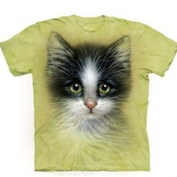Tee shirt enfant Chat - Green Eyed Kitten