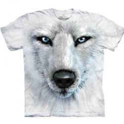 Tee shirt Portrait de Loup blanc - XL