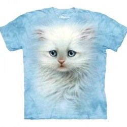 Tee shirt Chat - White Fluffy