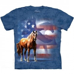Tee shirt Cheval - Wild Star flag