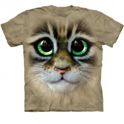 Tee shirt  Chat - Big Eyes Kitten