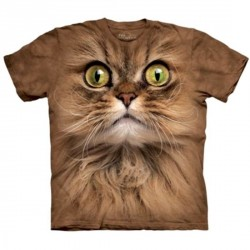 Tee shirt Chat - Big Face Brown Cat