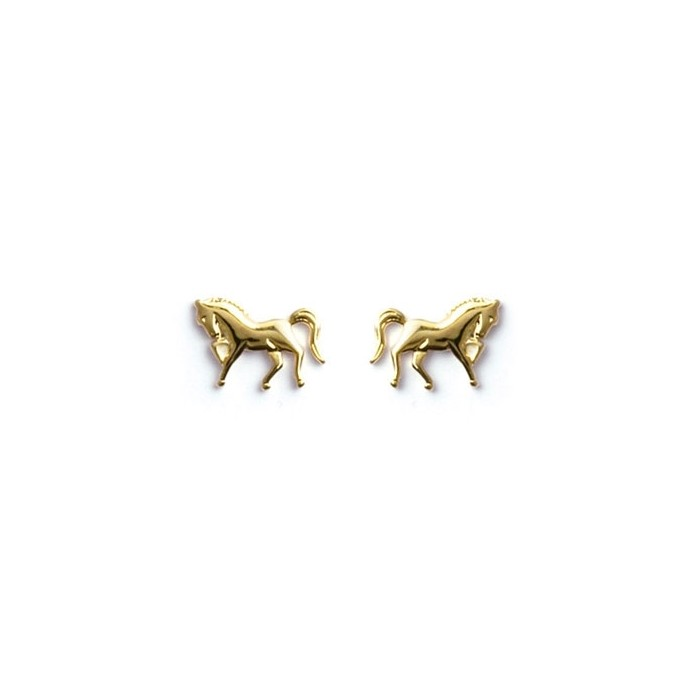 boucle d'oreille cheval or