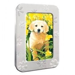 Boite déco chiens fleurs avec 12 cartes