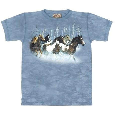 Tee shirt enfant Chevaux en hiver