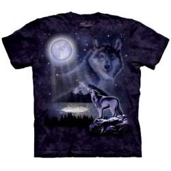 Tee shirt Loup bord de lac