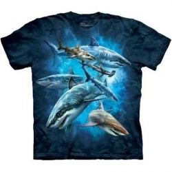 Tee shirt enfant Requins Collage