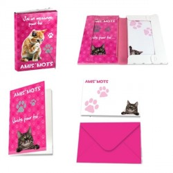 Cartes d'invitation Chat Amis mots