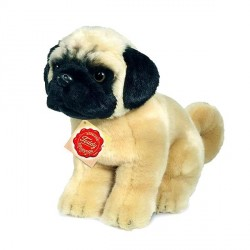 Peluche Chien Carlin assis - 25 cm