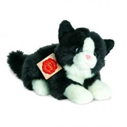 Peluche Chat noir et blanc - 20 cm