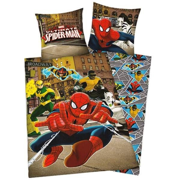 housse de couette et taie d 39 oreiller pour enfant spiderman ultimate cavacado. Black Bedroom Furniture Sets. Home Design Ideas