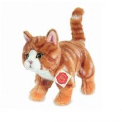 Peluche Chat roux - 20 cm
