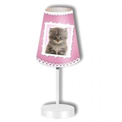 Lampe Petit Chat rose