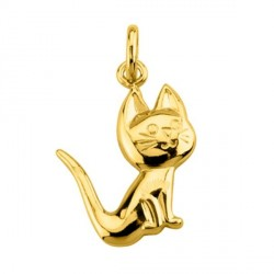 Pendentif Chat plaqué or