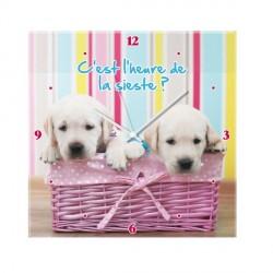 Horloge petits chiens