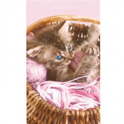 Serviette de plage Chat rose
