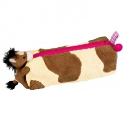 Trousse en peluche theme cheval