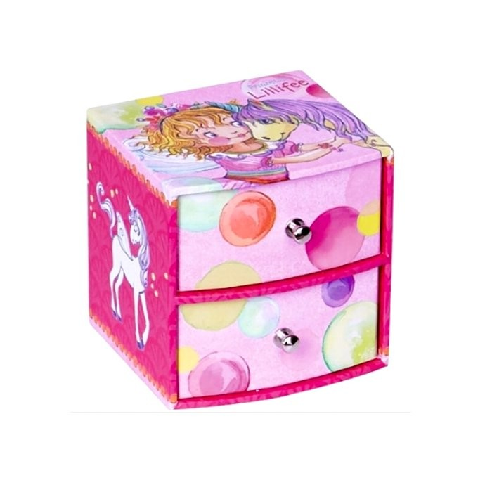 petite boite bijoux pour fille 2 tiroirs avec f e et licorne cavacado. Black Bedroom Furniture Sets. Home Design Ideas