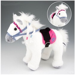 Peluche Cheval Blanc Miss Melody 26 cm