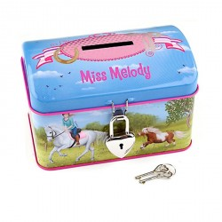 Tirelire motif Cheval Miss Melody bleue