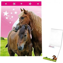 Lot de 2 Carnets de notes motif Cheval