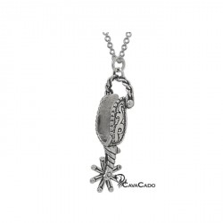 Pendentif Eperon Western argent