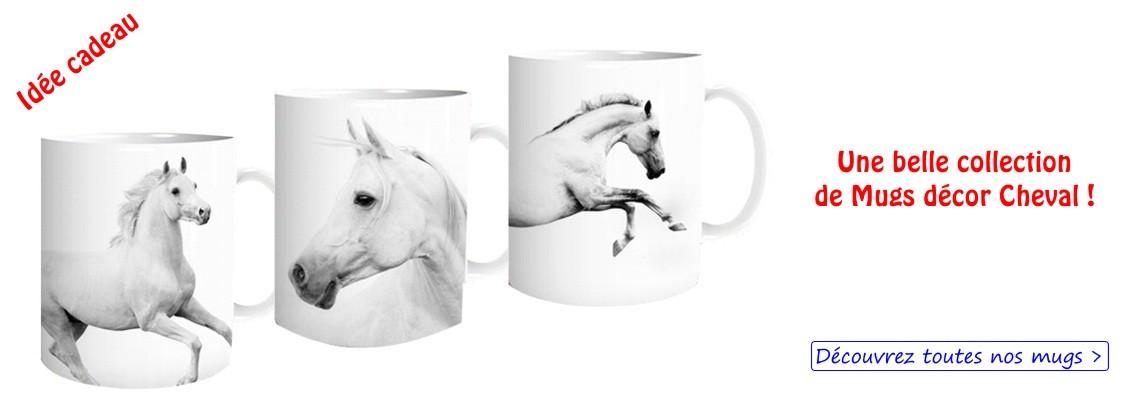 Les mugs décor cheval - idée cadeau